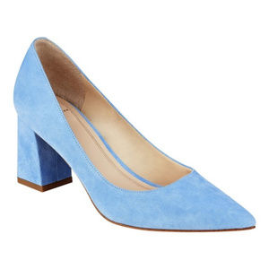 Marc Fisher Zala Blue Suede Shoes NIB Sz 6.5